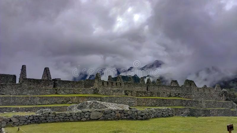 Terraços de Machu Picchu imagens de stock