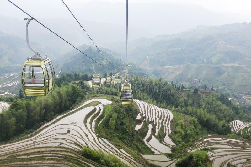 Terraços do arroz em Longsheng, China fotografia de stock