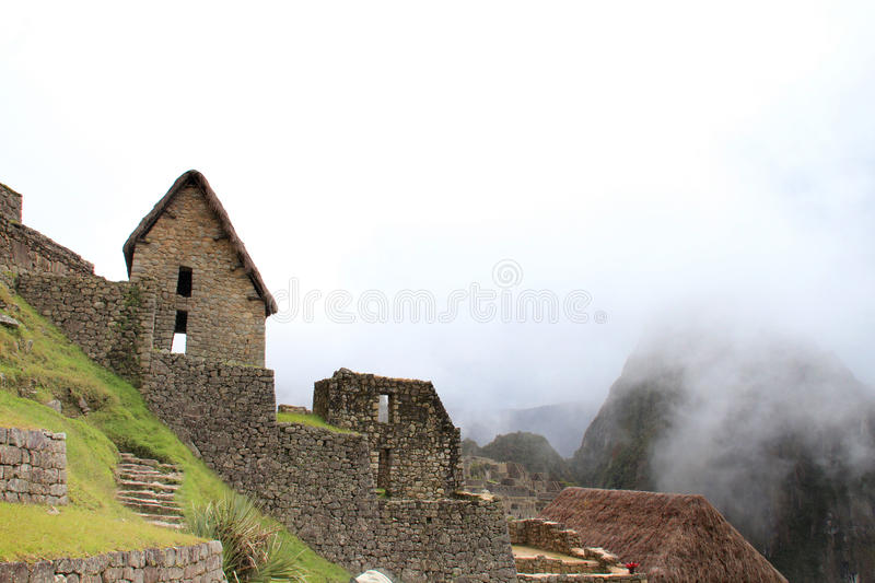 Terraços do Inca de Machu Picchu foto de stock