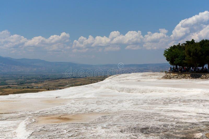 Terraços do travertino de Pamukkale, Turquia imagem de stock royalty free