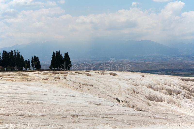 Terraços do travertino de Pamukkale, Turquia fotos de stock royalty free