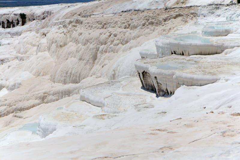 Terraços do travertino de Pamukkale, Turquia imagens de stock
