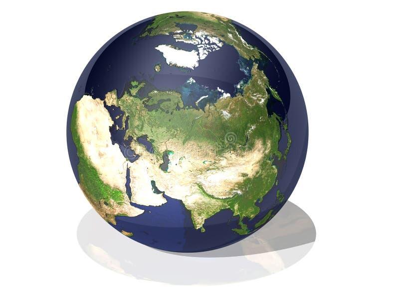 Terra Ásia ilustração stock
