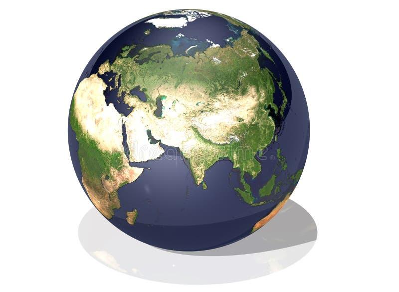 Terra Ásia ilustração royalty free