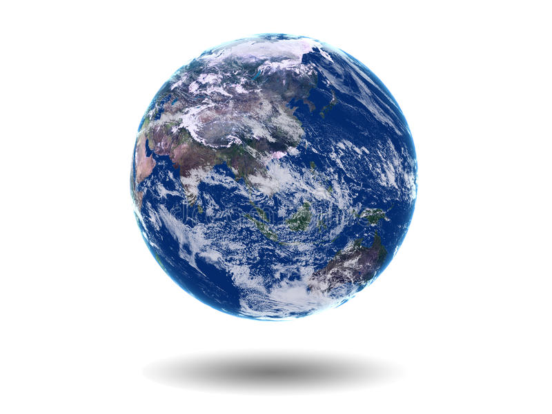 Terra Ásia Austrália ilustração do vetor