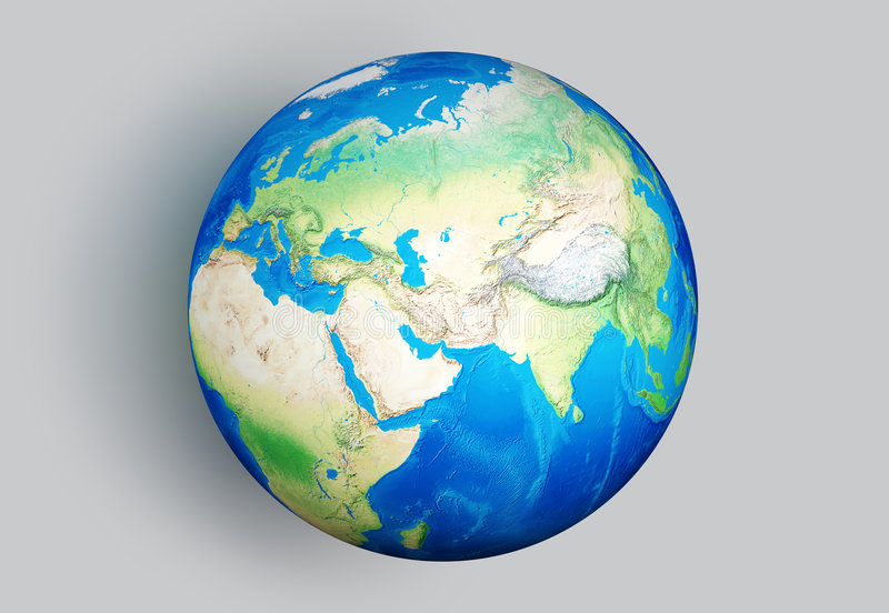 terra 3D immagine stock