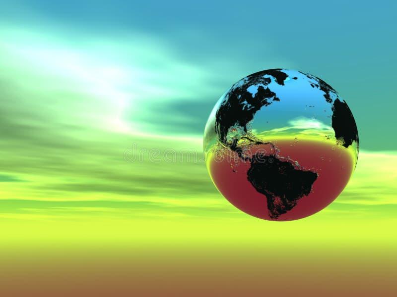Terra all'indicatore luminoso (trovi appena più nel mio portafoglio) royalty illustrazione gratis