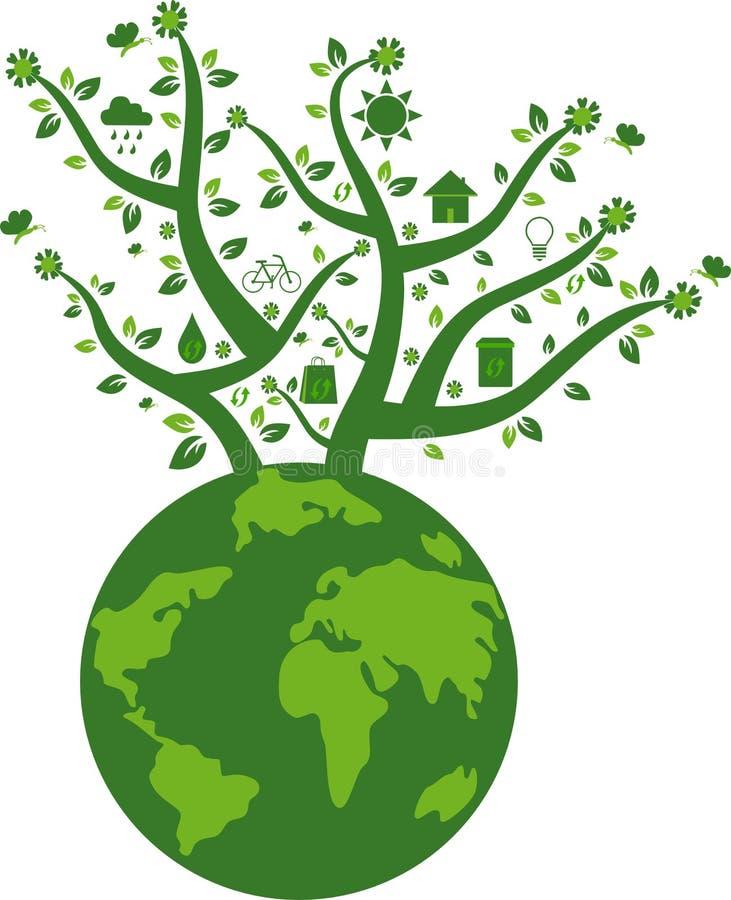 Terra amigável de Eco ilustração stock