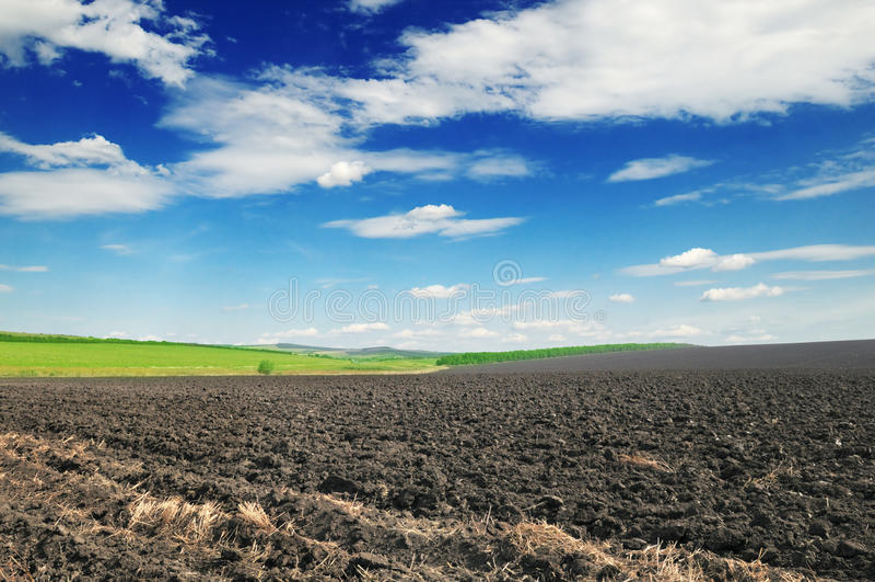Terra arável foto de stock