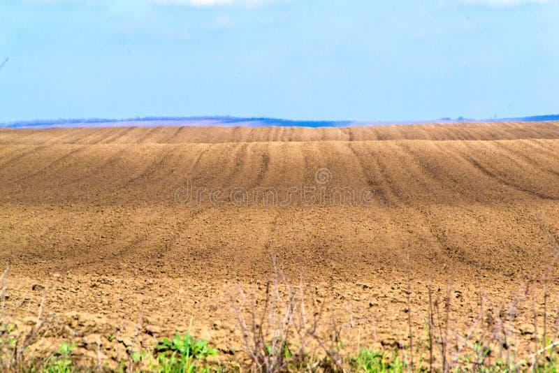 Terra arável preparada plantando foto de stock royalty free
