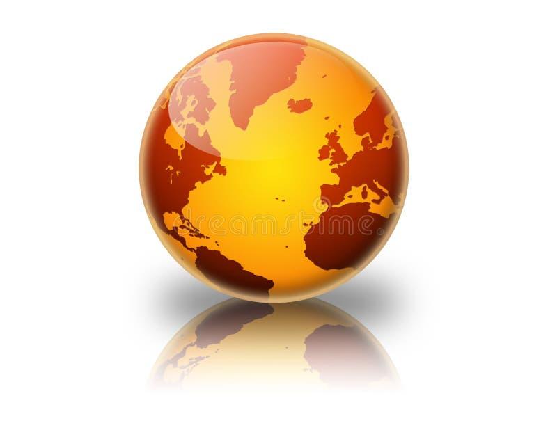 Terra arancione & rossa illustrazione vettoriale