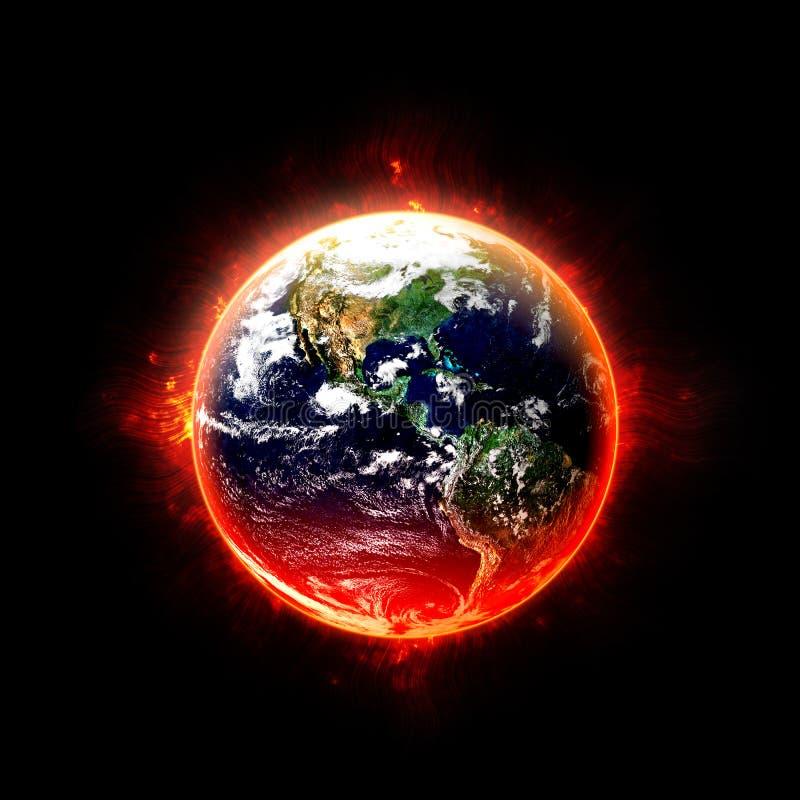Terra ardente imagens de stock