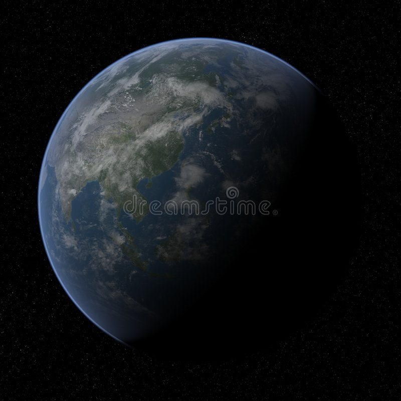 Terra - Asia. fotografia stock libera da diritti