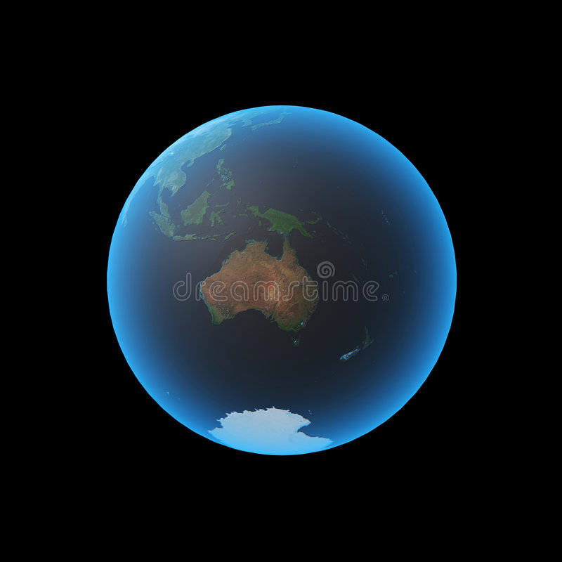 Terra Austrália ilustração do vetor