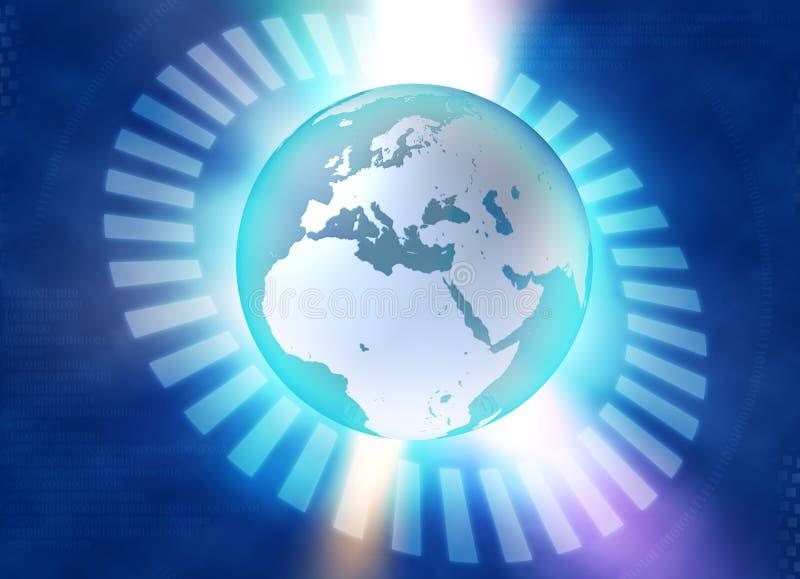 Terra azul binária ilustração do vetor