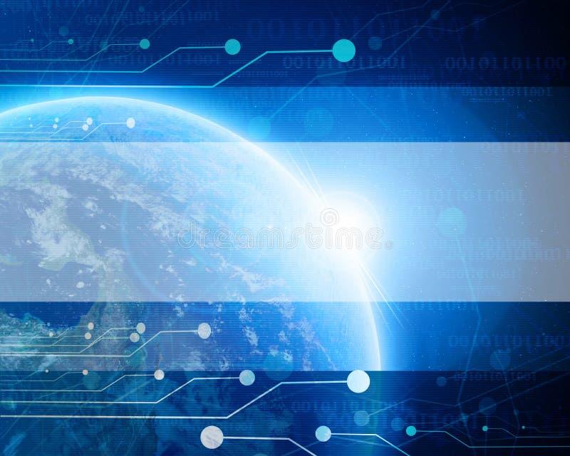 Terra azul tecnologico do planeta ilustração stock