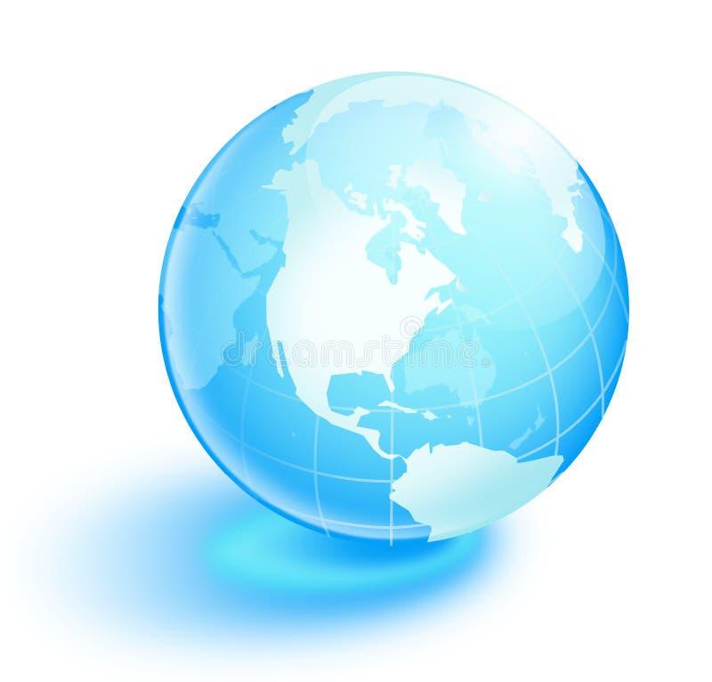 Terra blu di cristallo illustrazione di stock
