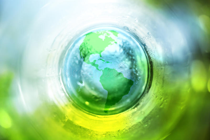 Terra blu e verde fotografia stock libera da diritti
