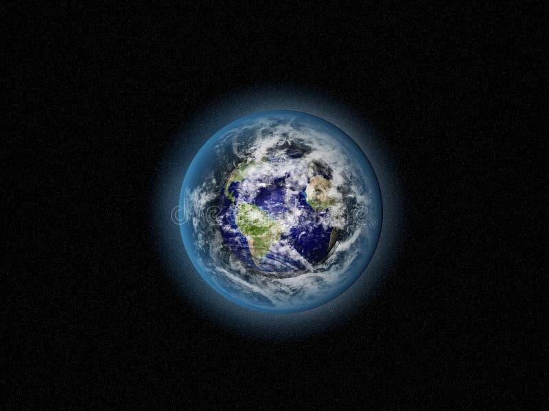 Terra blu nello spazio illustrazione di stock