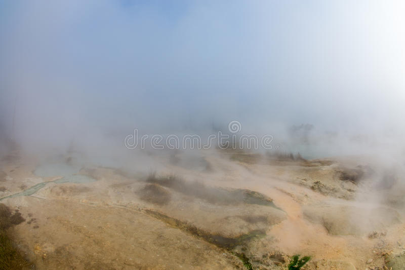 Terra calda in Rupite in Bulgaria immagine stock