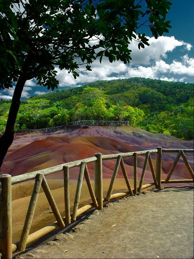 Terra colorata sette, Isola Maurizio fotografia stock libera da diritti