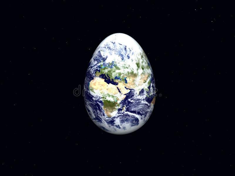 Terra como o ovo de Easter ilustração royalty free