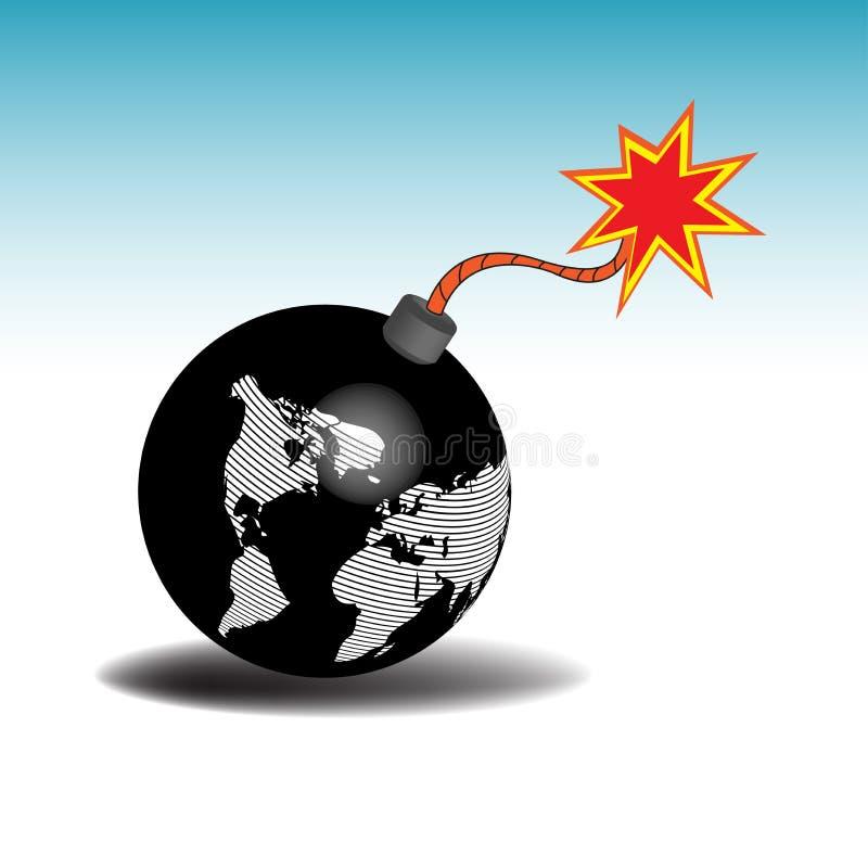 Terra como uma bomba ilustração stock