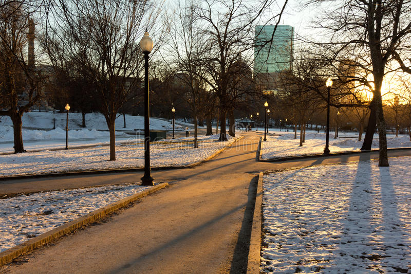 Terra comum de Boston fotos de stock