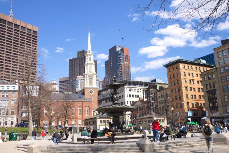 Terra comum de Boston imagem de stock