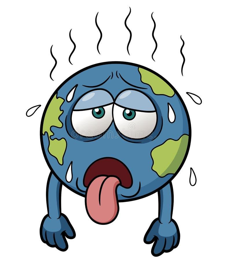 Terra con tempo caldo royalty illustrazione gratis