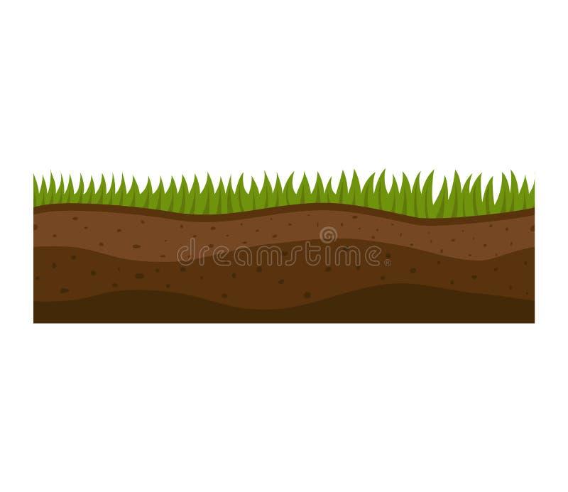 A terra corta o vetor ilustração stock