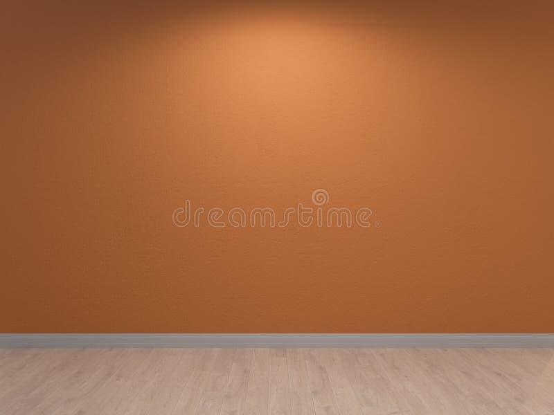 Terra - cotta ściana, malujący wewnętrzny tło ilustracja wektor