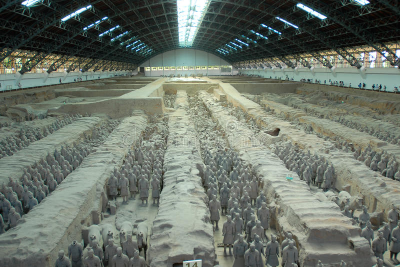 Terra-cotta army. Unique Terra-cotta army in Xian,China stock images