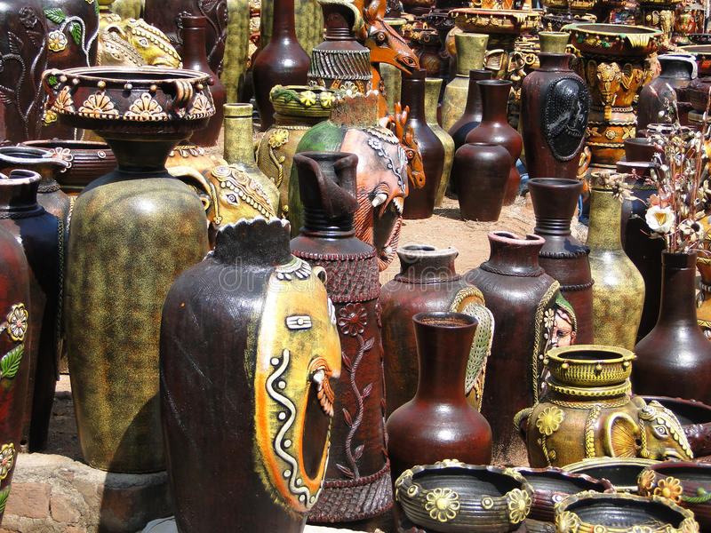 Download Terra Cotta Pottery In Traditional Designs Stock Photo - Image: 23078704