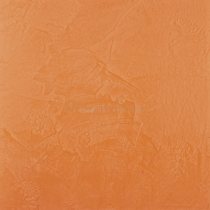 Terra Cotta Venetian Plaster. Terra cotta colored venetian plaster texture on a wall used as a background stock photos
