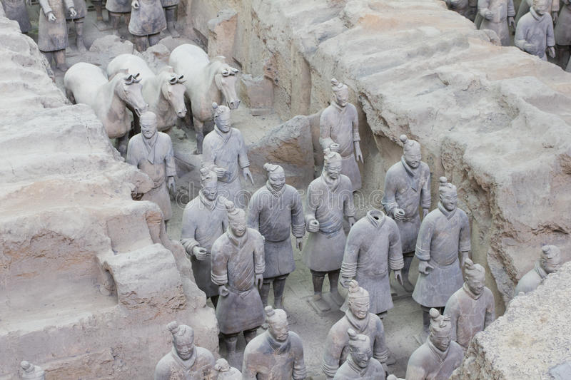 Download Terra Cotta Warriors Excavation Stock Photo - Image: 20023602