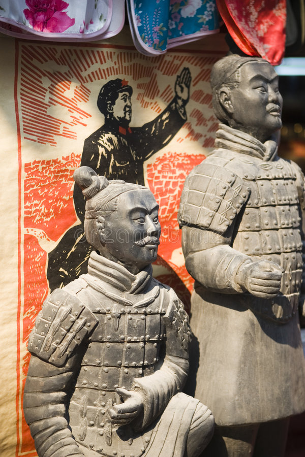 Terra cotta warriors for sale stock photography