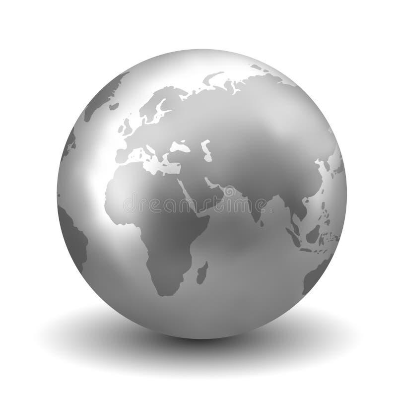 Terra d'argento lucida illustrazione di stock