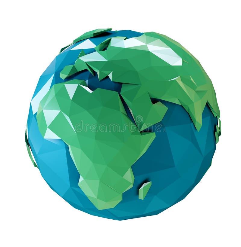 Terra 3d estilizado ilustração royalty free