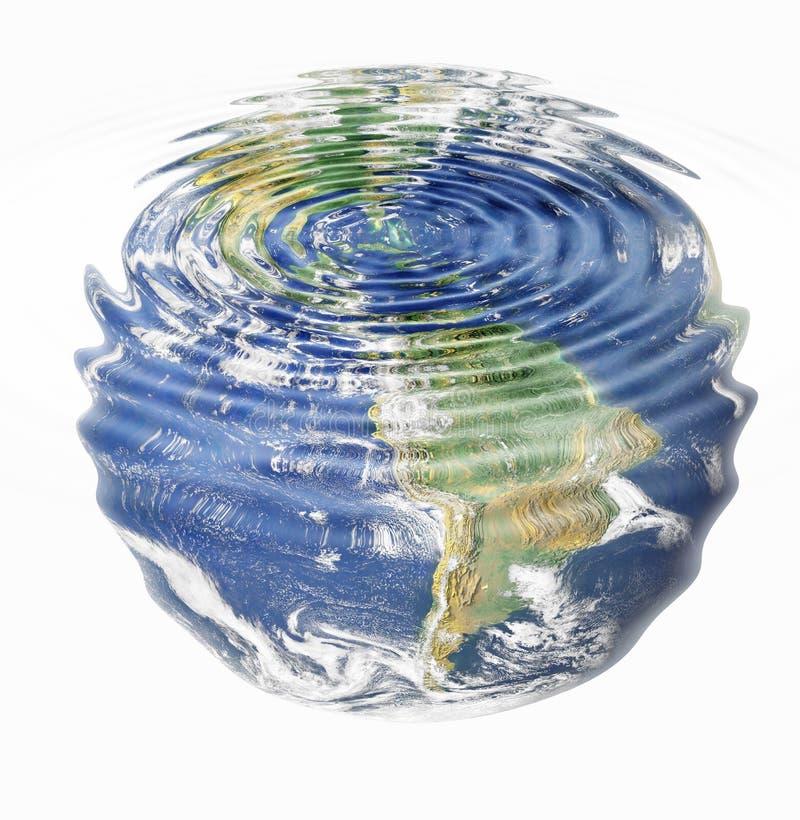 Terra da água ilustração stock