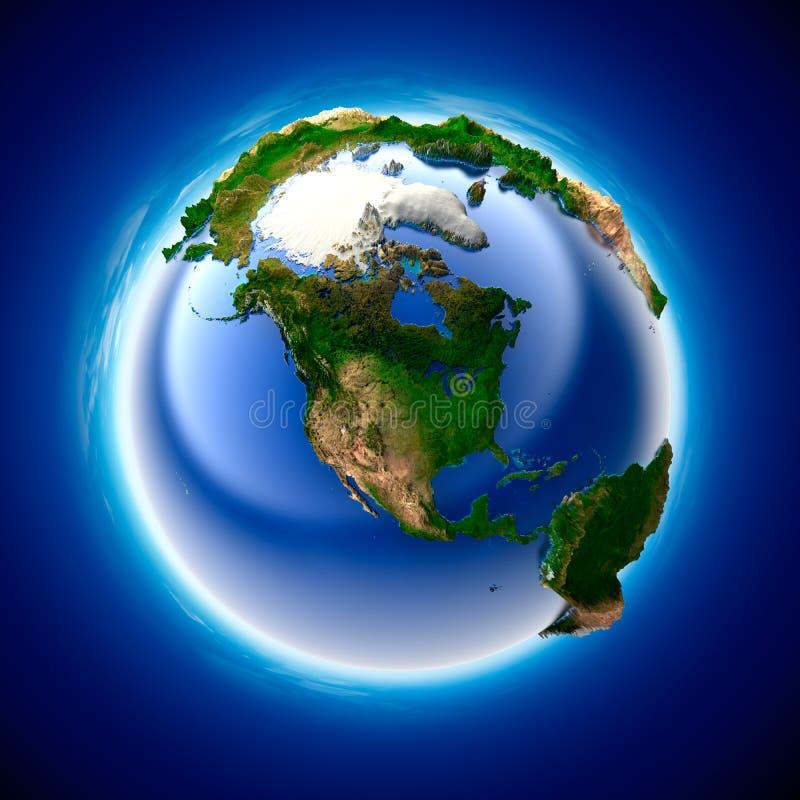 Terra da ecologia ilustração royalty free