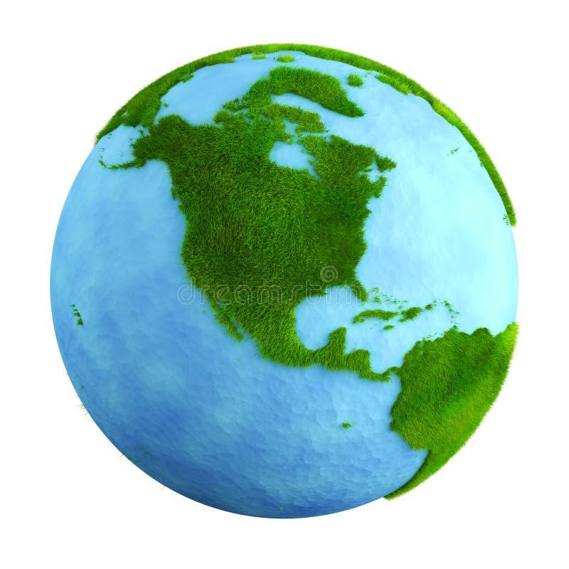 Terra da grama - America do Norte ilustração royalty free