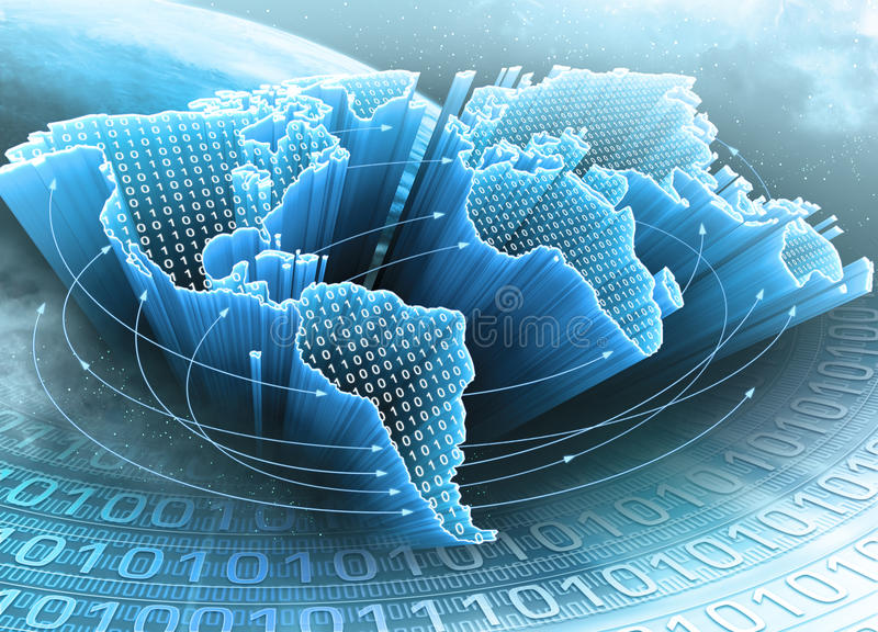 Terra da informação fotos de stock