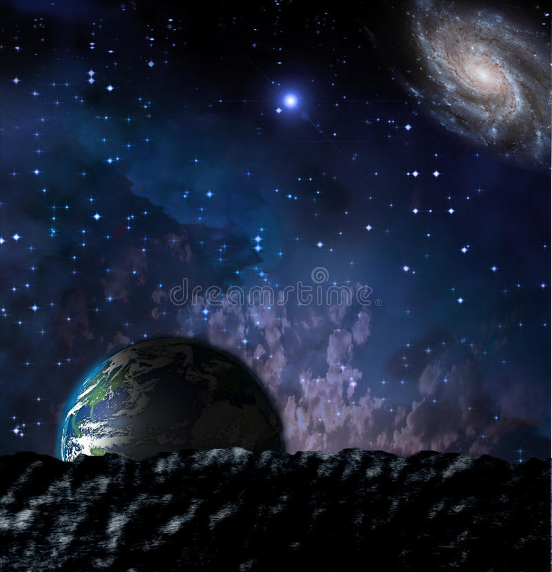 Terra da moonscape illustrazione vettoriale