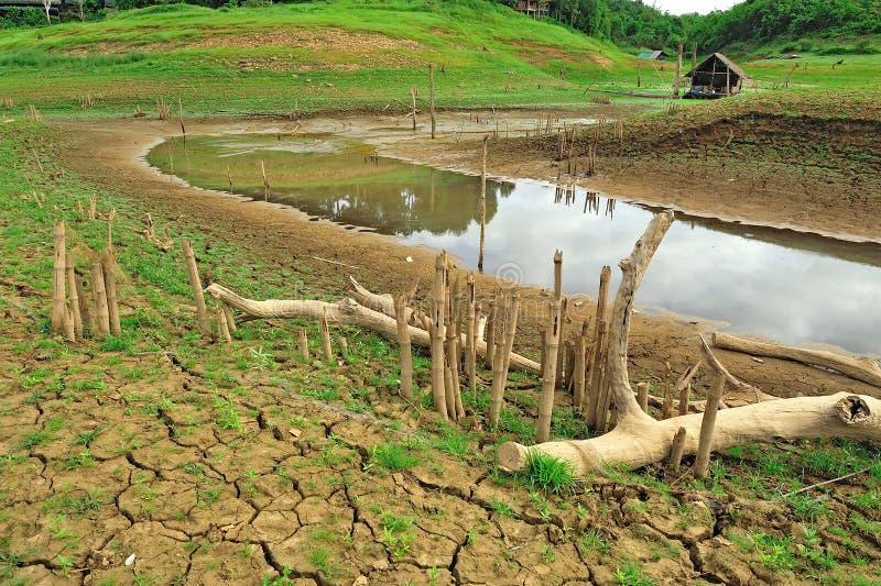 Terra da seca e lugar bonito em Tailândia imagem de stock royalty free