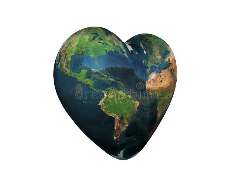 Terra dada forma coração ilustração royalty free