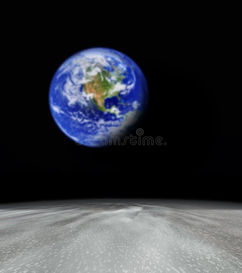 Terra dal pianeta astratto illustrazione vettoriale