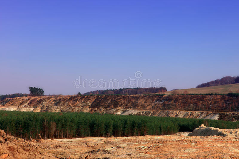 Terra danificada foto de stock royalty free