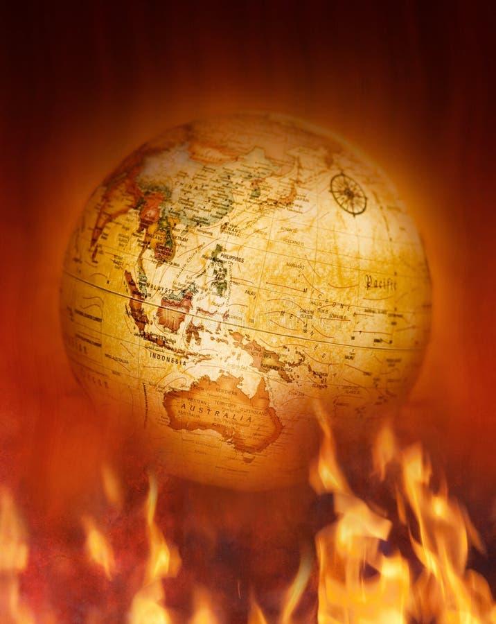Terra das alterações climáticas imagens de stock