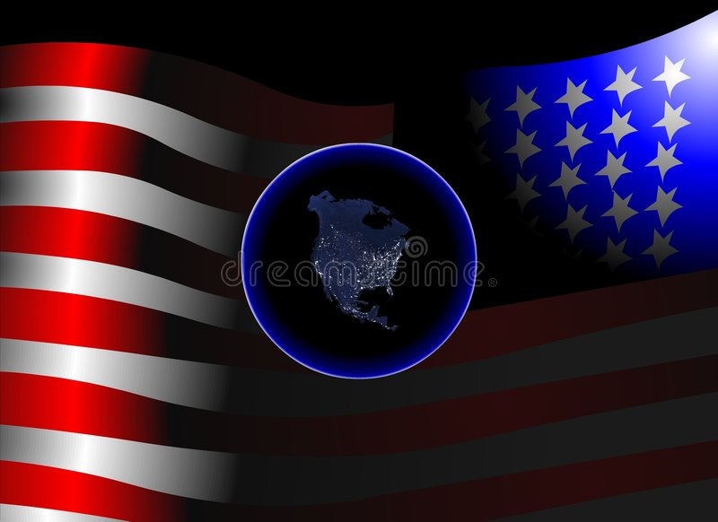 Terra de América ilustração stock